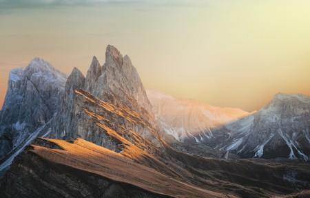 山 天空 云 日落风景4k风景壁纸百变桌面精选