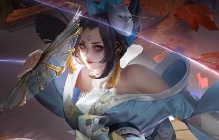 魅语不知火舞 王者荣耀5120x1440双屏游戏壁纸高端桌面精选
