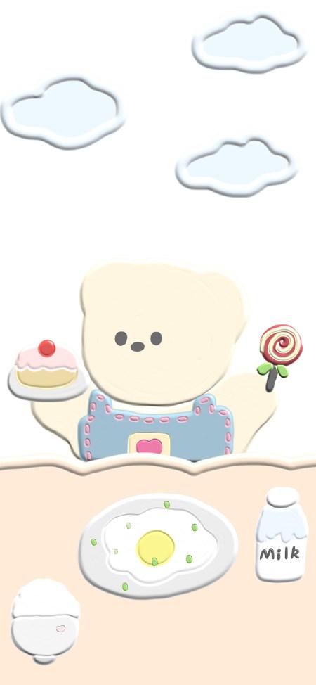 小熊插画4K高清手机壁纸推荐