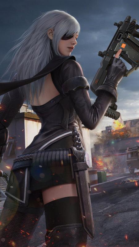 战争游戏美女极品游戏桌面精选4K手机壁纸
