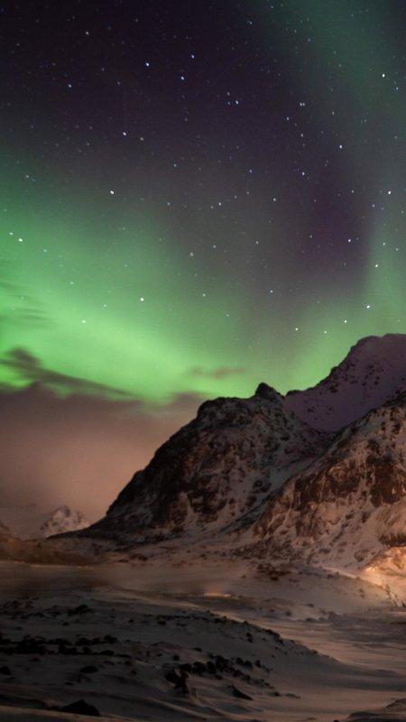 挪威罗弗敦北极光4K高清手机壁纸精选