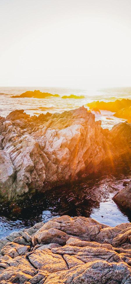 海岸岩石风景4K高清手机壁纸精选