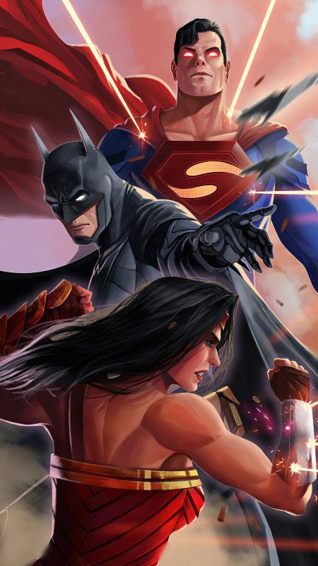 超人 蝙蝠侠 神奇女侠插画极品游戏桌面精选4K手机壁纸