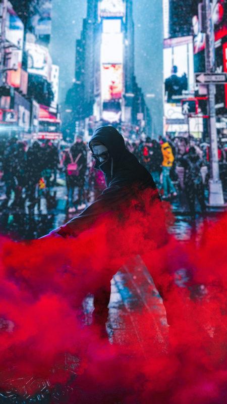 抗议者红烟极品游戏桌面精选4K手机壁纸