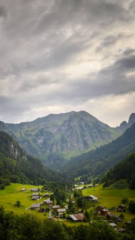 小山村自然风景4K高清手机壁纸精选