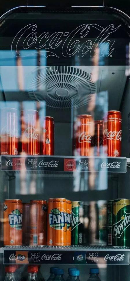 冰箱里的饮料4K高清手机壁纸推荐