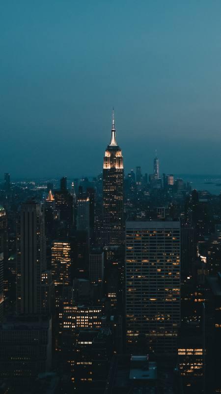 城市高楼灯光4K高清手机壁纸精选