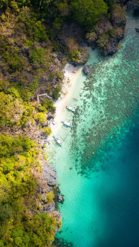 海岸航拍风景极品游戏桌面精选4K手机壁纸