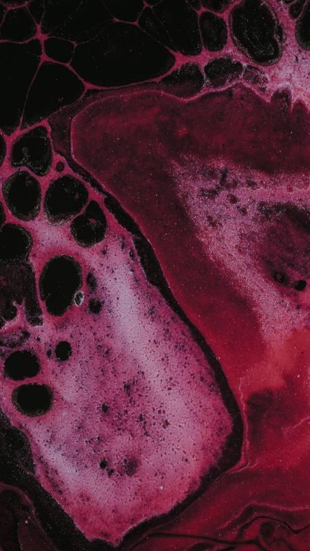 粉红色抽象斑点颜料背景极品游戏桌面精选4K手机壁纸