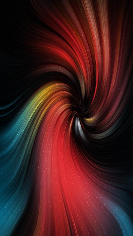 彩色抽象旋涡背景4K高清手机壁纸推荐