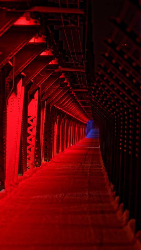 红色走廊4K高清手机壁纸精选