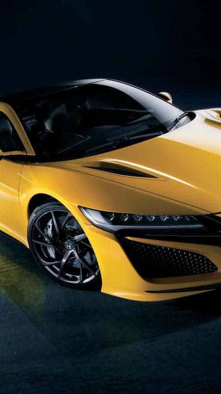 黄色本田NSX跑车极品游戏桌面精选4K手机壁纸