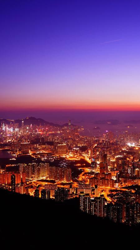 夜晚的城市灯火4K高清手机壁纸精选