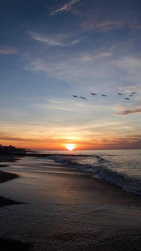 海平面日落风景极品游戏桌面精选4K手机壁纸