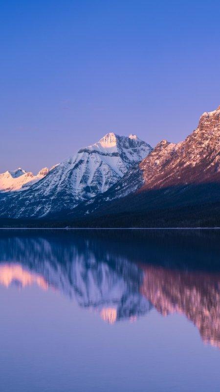冰川国家公园麦克唐纳湖风景极品游戏桌面精选4K手机壁纸