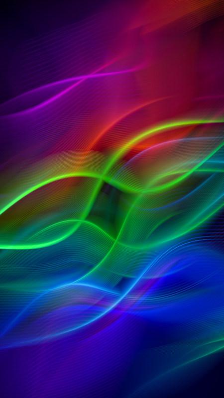彩色波浪线条背景极品游戏桌面精选4K手机壁纸