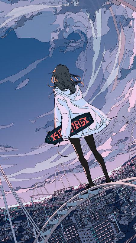 动漫滑板女孩极品游戏桌面精选4K手机壁纸