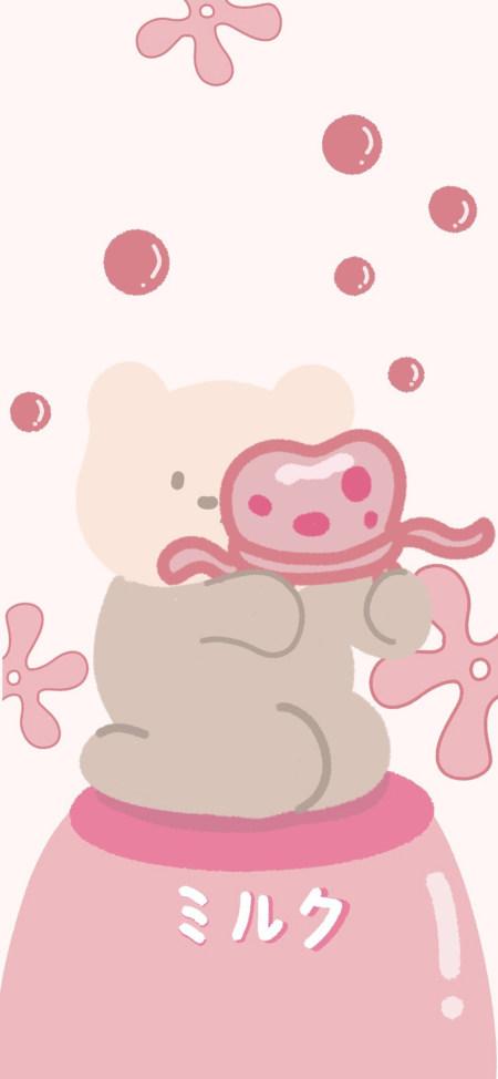 小熊和水母极品游戏桌面精选4K手机壁纸