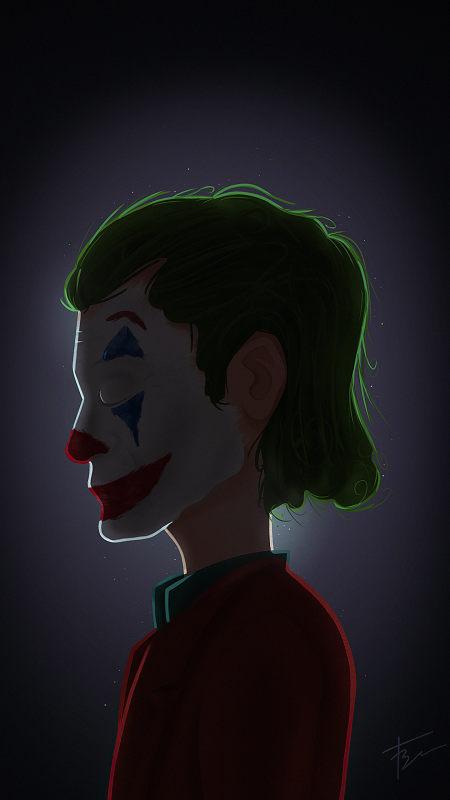 小丑插画4K高清手机壁纸推荐