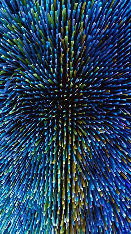 蓝色光亮纹理极品游戏桌面精选4K手机壁纸