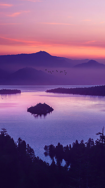 日落的珍珠湖极品游戏桌面精选4K手机壁纸