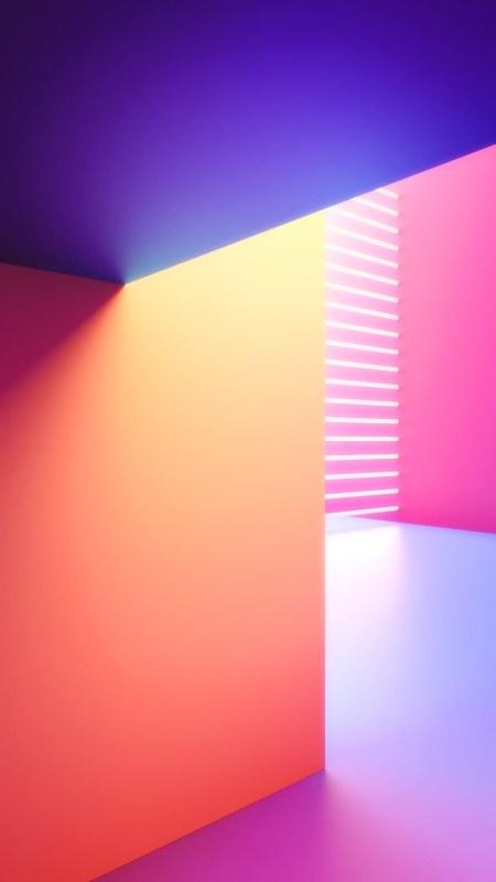 LG G8 ThinQ内置彩色几何渐变背景极品游戏桌面精选4K手机壁纸