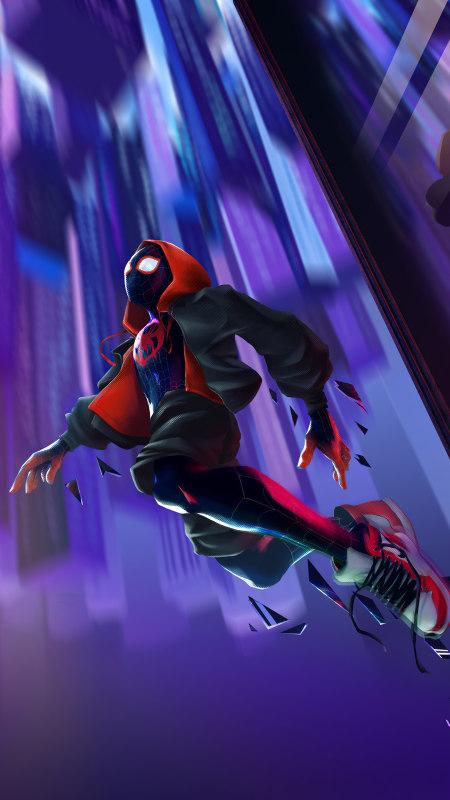蜘蛛侠:平行宇宙 迈尔斯·莫拉莱斯极品游戏桌面精选4K手机壁纸