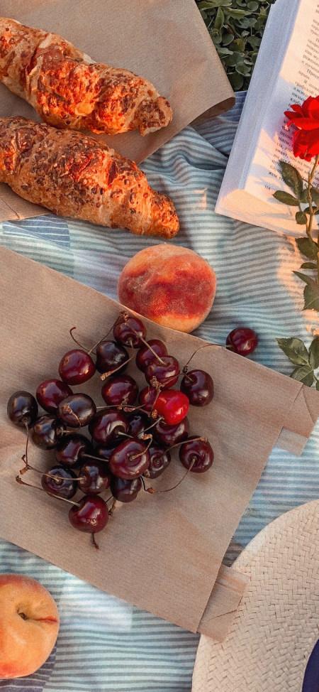 野餐 水果 面包4K高清手机壁纸推荐