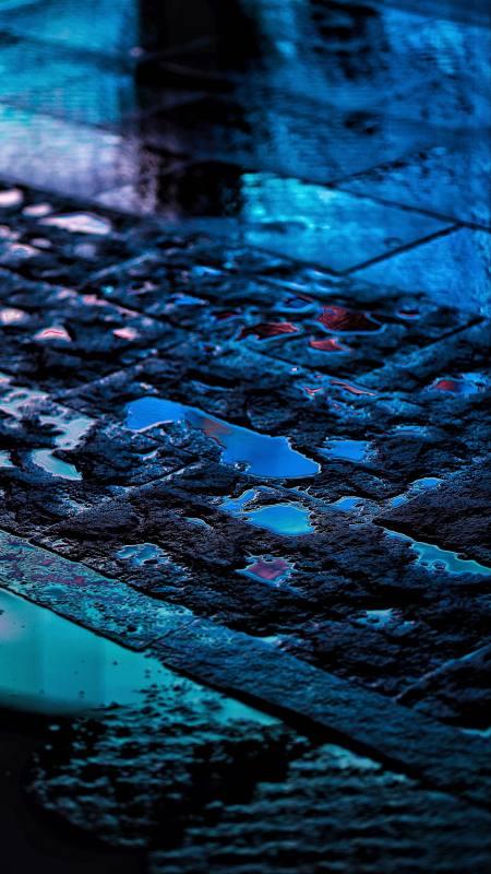 沥青路上的水洼极品游戏桌面精选4K手机壁纸