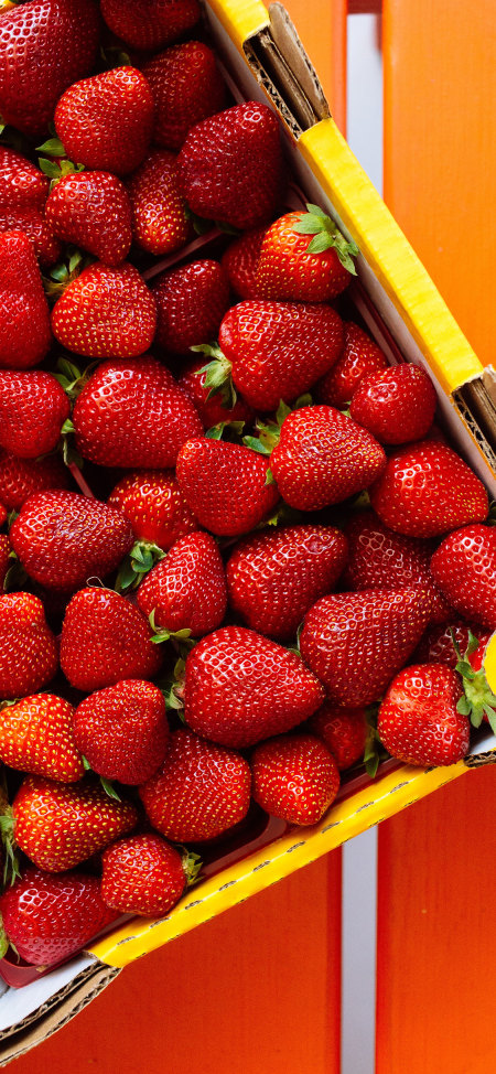 草莓4K高清手机壁纸推荐