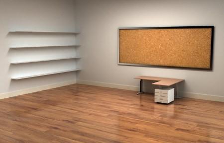 办公室 书架 桌子 木地板 4k 3d壁纸极品壁纸推荐