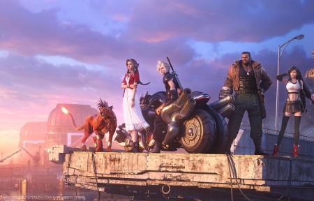 《最终幻想7 重制版》艾瑞丝 克劳德 蒂法 3440x1440带鱼屏壁纸极品壁纸推荐