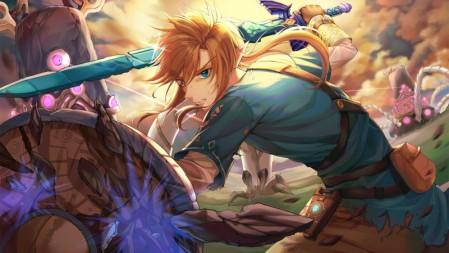 《塞尔达传说:荒野之息The Legend of Zelda》金发 长剑 盾牌 4K高清壁纸高端桌面精选 3840x2160
