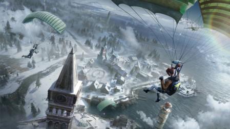 雪地跳伞《绝地求生(PUBG)》2020 4K游戏高清壁纸高端桌面精选 3840x2160