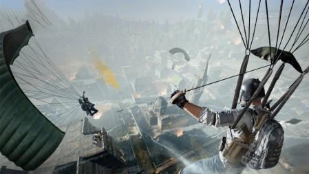 《绝地求生PUBG》降落伞 4K高清壁纸高端桌面精选 3840x2160