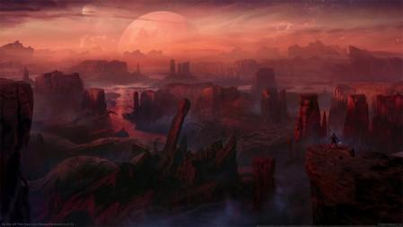 《星球大战绝地陨落的武士团Star Wars Jedi Fallen Order》红光 星球 小人 地表 4K高清壁纸高端桌面精选 3840x2160