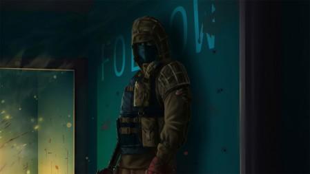 《彩虹六号围攻-Tom Clancy's Rainbow Six》墙 绿军装 4K高清壁纸高端桌面精选 3840x2160