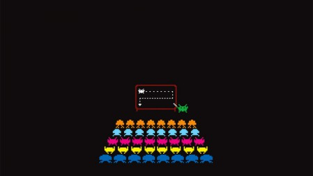 《太空侵略者space invaders》等待标志 4K高清壁纸高端桌面精选 3840x2160