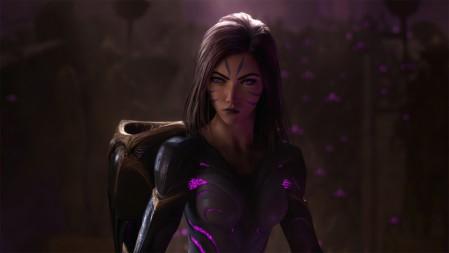 《英雄联盟》虚空之女 Kaisa 凯莎 紫发 4K高清壁纸高端桌面精选 3840x2160
