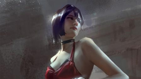 《生化危机》短发女孩 红色吊带 4K高清壁纸高端桌面精选 3840x2160