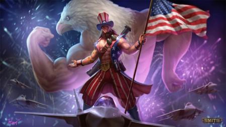《神之浩劫(Smite)》Freedom Overload 4k高清游戏壁纸百变桌面精选 3840x2160