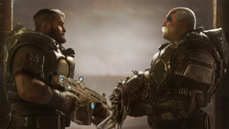 《战争机器战术小队(Gears Tactics》面对面 枪 4K高清壁纸高端桌面精选 3840x2160