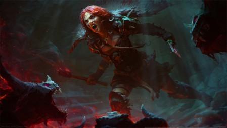 《暗黑破坏神4-Diablo 4》红发女孩 野兽 4K高清壁纸高端桌面精选 3840x2160