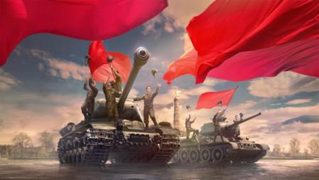 《坦克世界-World of Tanks》坦克 红旗 军人 4K高清壁纸高端桌面精选 3840x2160