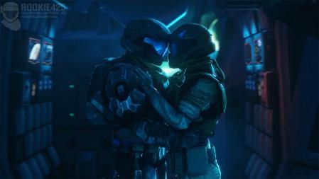 《光环-Halo》俩人拥抱 4K高清壁纸高端桌面精选 3840x2160