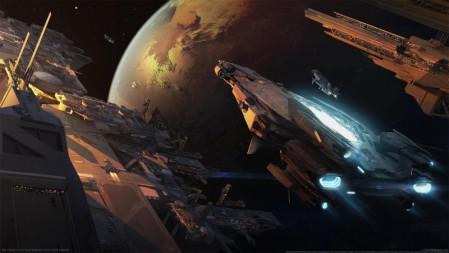《星际公民-star citizen》 四架飞船 外太空  4K游戏壁纸高端桌面精选 3840x2160