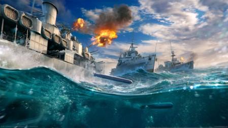 《战舰世界-World Of Warships》开炮 导弹 战舰 4K高清壁纸高端桌面精选 3840x2160