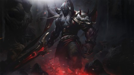 暗裔剑魔 腥红之月 亚托克斯 英雄联盟 壁纸极品壁纸推荐 7680x4320