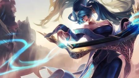 琴瑟仙女 娑娜 英雄联盟 高端桌面精选壁纸 5120x2880
