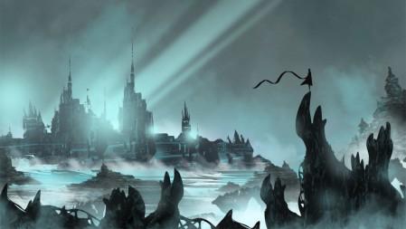 《风之旅人》夜晚城堡  5k高清壁纸高端桌面精选 3840x2160
